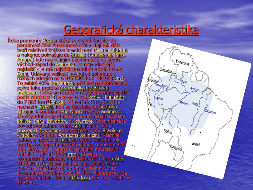 Geografická charakteristika Geografická charakteristika Řeka pramení v Peru a stéká ze svahů Kordiler do peruánské části Amazonské nížiny. Její tok dá