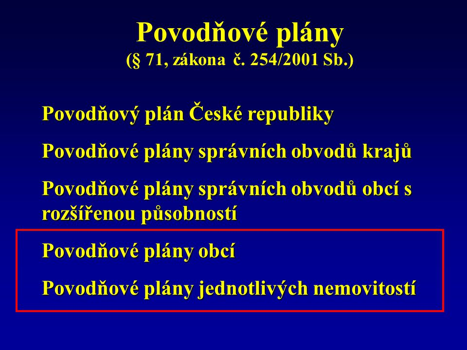 Povodňové plány TNV 75 2931 Srpen 2006