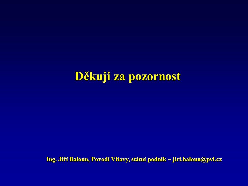 Děkuji za pozornost Ing.Jiří Baloun, Povodí Vltavy, státní podnik – jiri.baloun@pvl.cz Ing.