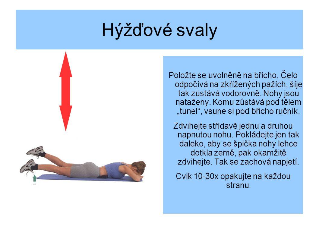 Hýžďové svaly Položte se uvolněně na břicho.