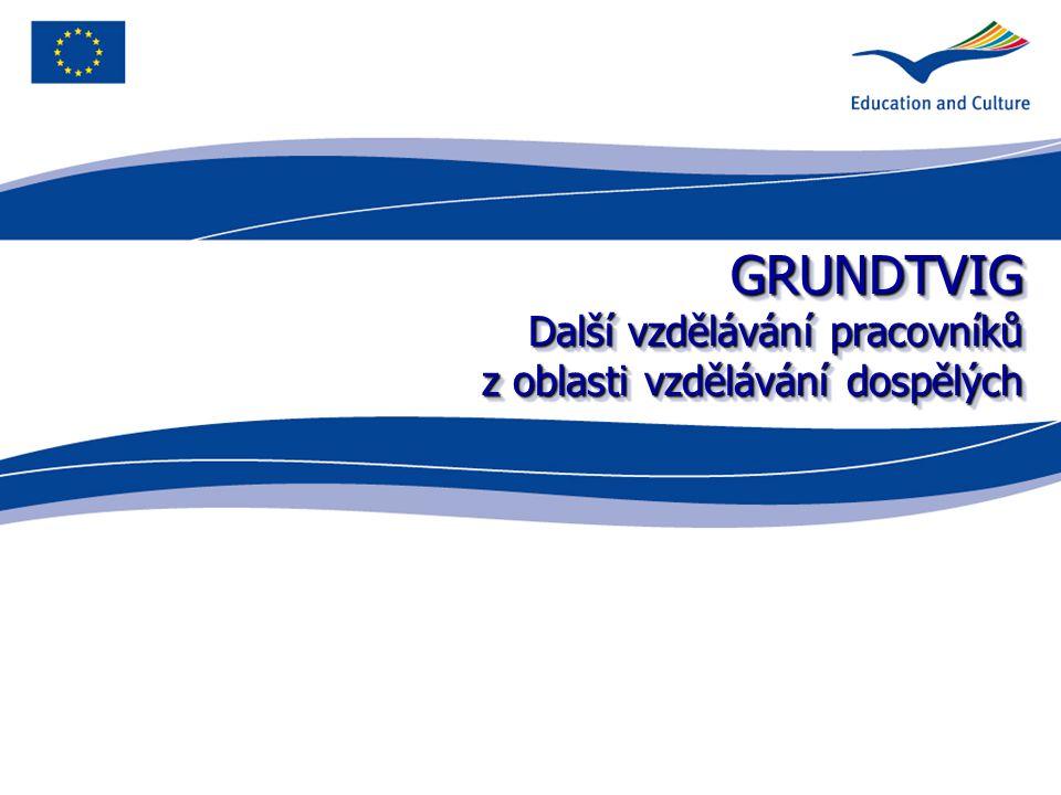 GRUNDTVIG Další vzdělávání pracovníků z oblasti vzdělávání dospělých