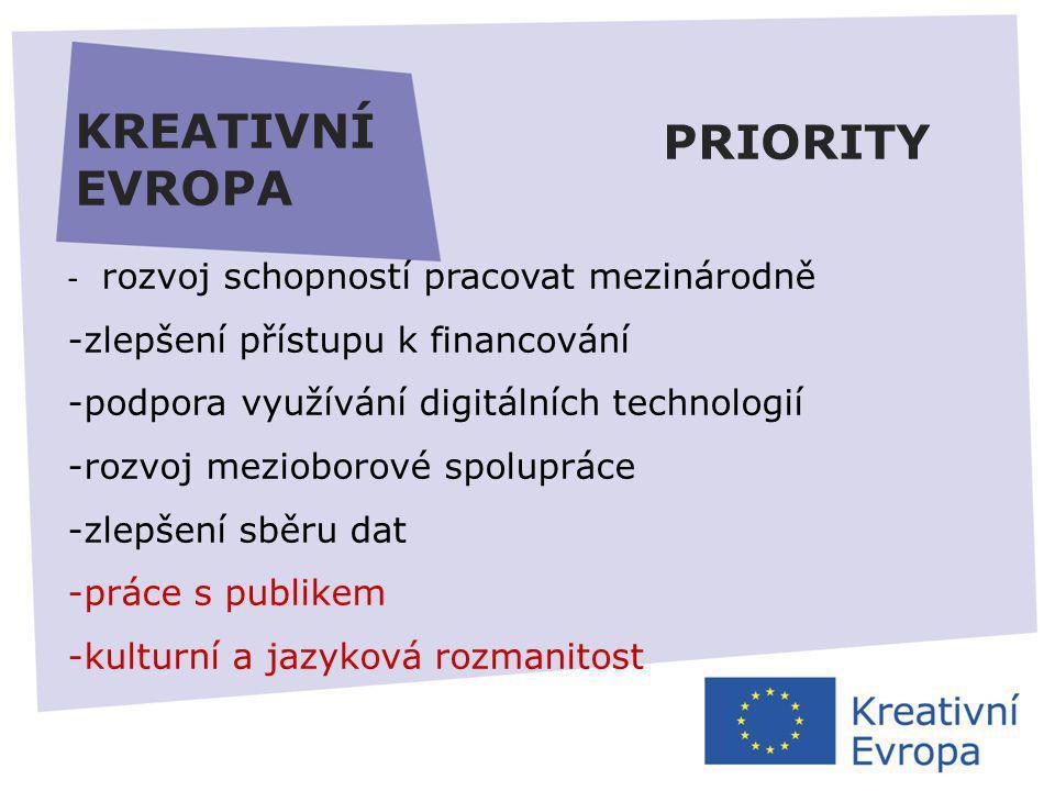 27.11.2013 KREATIVNÍ EVROPA REGISTRACE https://ec.europa.eu/education/participants/portal