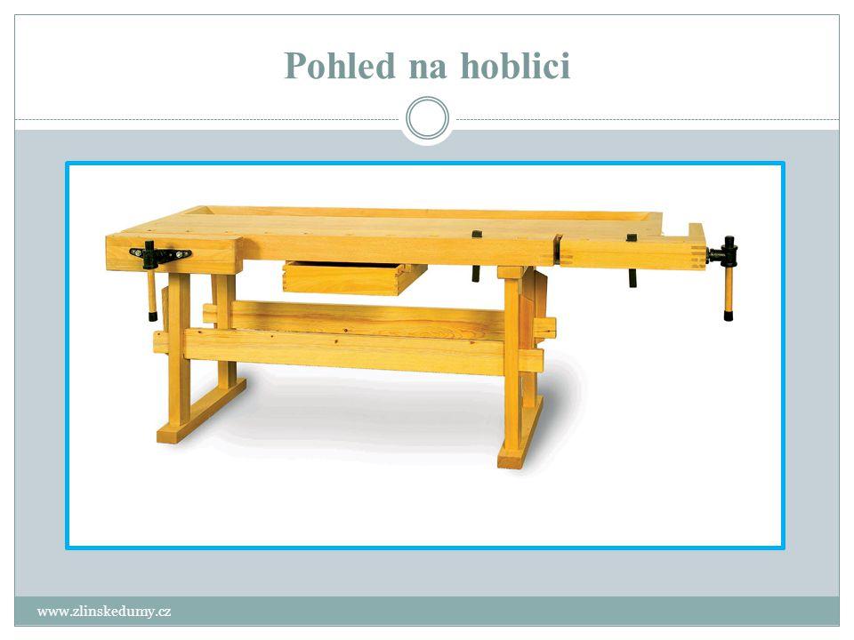 Pracovní deska hoblice www.zlinskedumy.cz Deska je masivní konstrukce tloušťky 60 – 100mm.