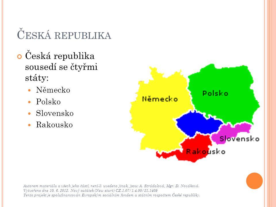 Č ESKÁ REPUBLIKA - KONTROLA Autorem materiálu a všech jeho částí, není-li uvedeno jinak, jsou: A.