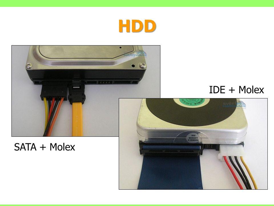 HDD IDE + Molex SATA + Molex
