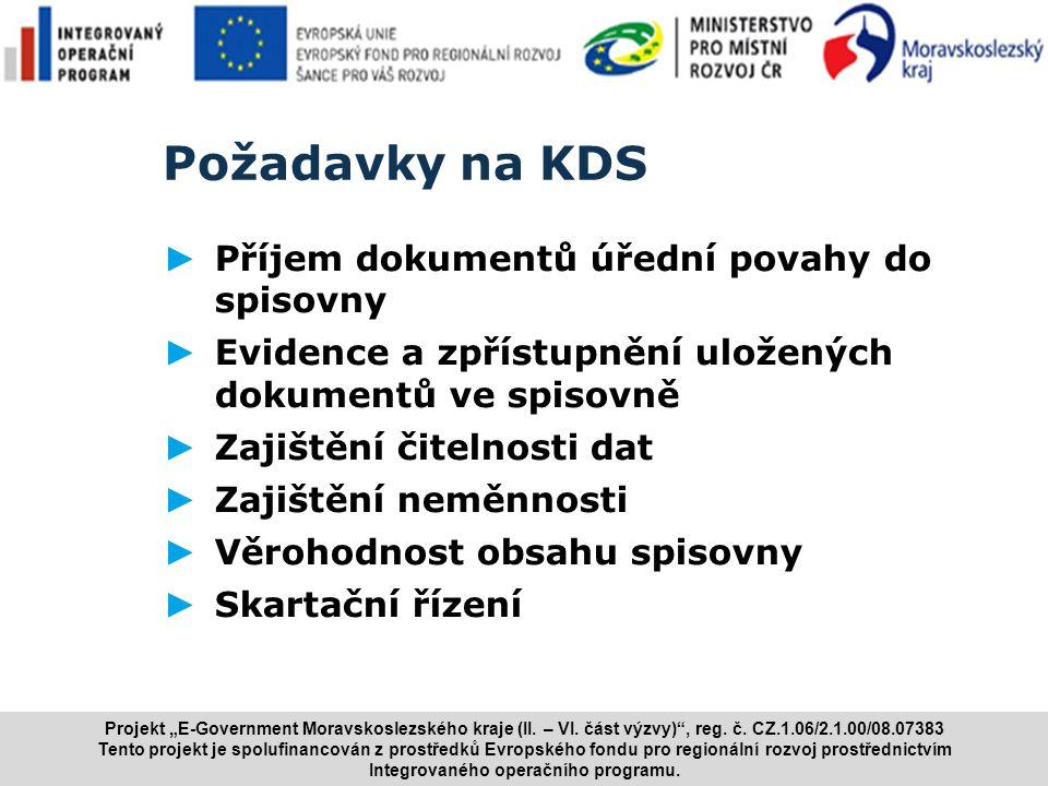 www.i.cz Požadavky na KDS ► Příjem dokumentů úřední povahy do spisovny ► Evidence a zpřístupnění uložených dokumentů ve spisovně ► Zajištění čitelnost