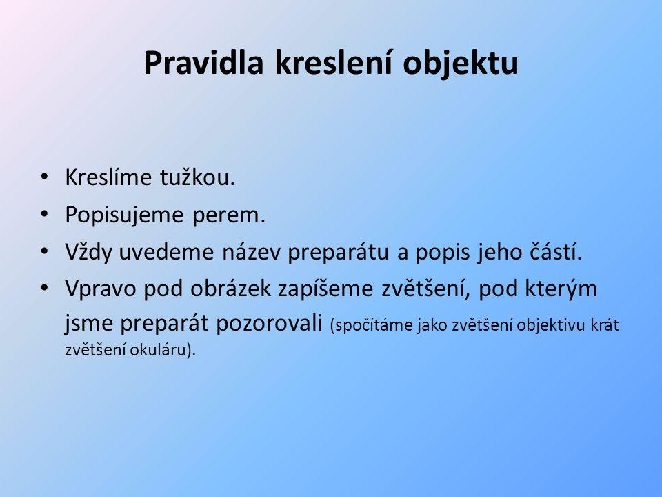 Laboratorní pomůcky – s praktickou ukázkou Lupa Skalpel (žiletka) Pinzeta Preparační jehla Podložní a krycí sklíčka Kapátko Laboratorní sklo (Petriho miska, kádinka, odměrný válec...)
