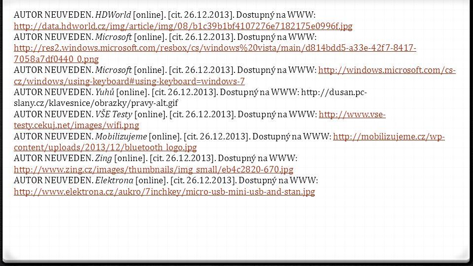 AUTOR NEUVEDEN.HDWorld [online]. [cit. 26.12.2013].