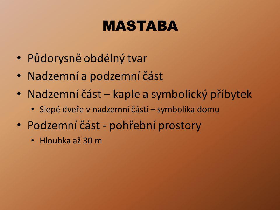 MASTABA – řez