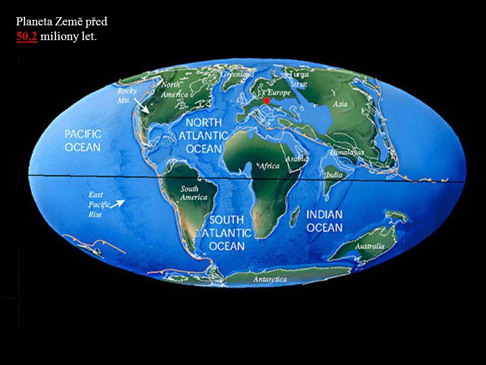 Planeta Země před 50,2 miliony let.