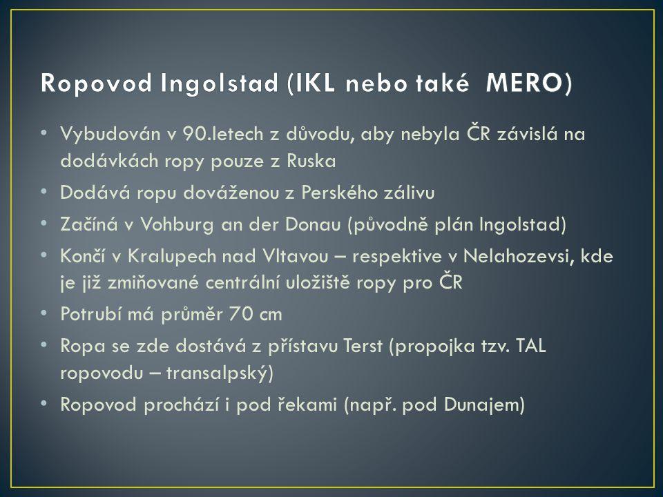 Železné hory – Chvaletice až Sovolusky (okres Pardubice) Dovoz do ČR – z Nizozemí, Ukrajiny a JARu