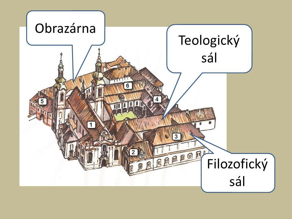 Teologický sál Nejstarší část dnešní knihovny.