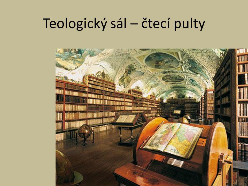 Teologický sál – čtecí pulty
