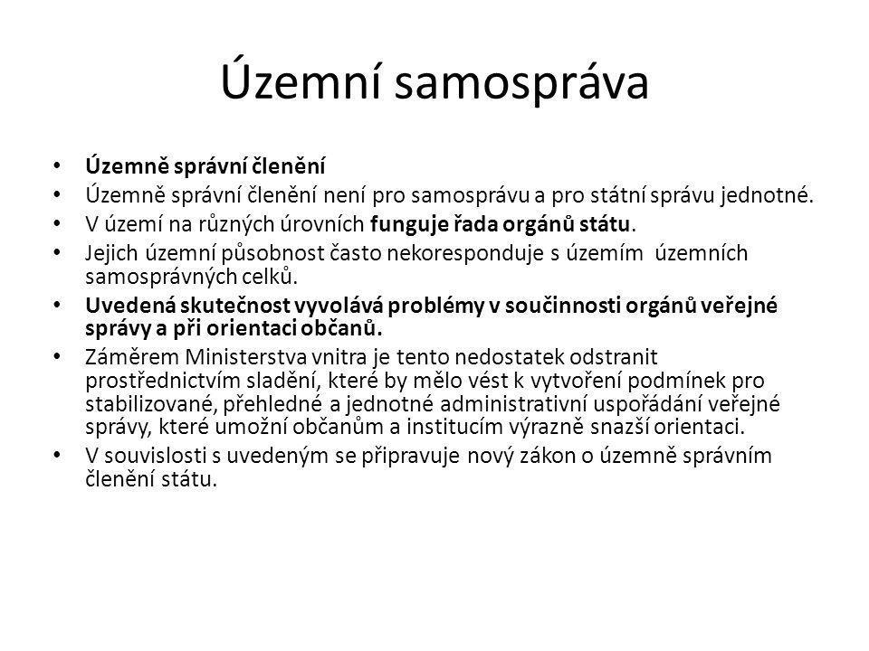 Územní samospráva Obec a její kompetence Obec je základem územní samosprávy.