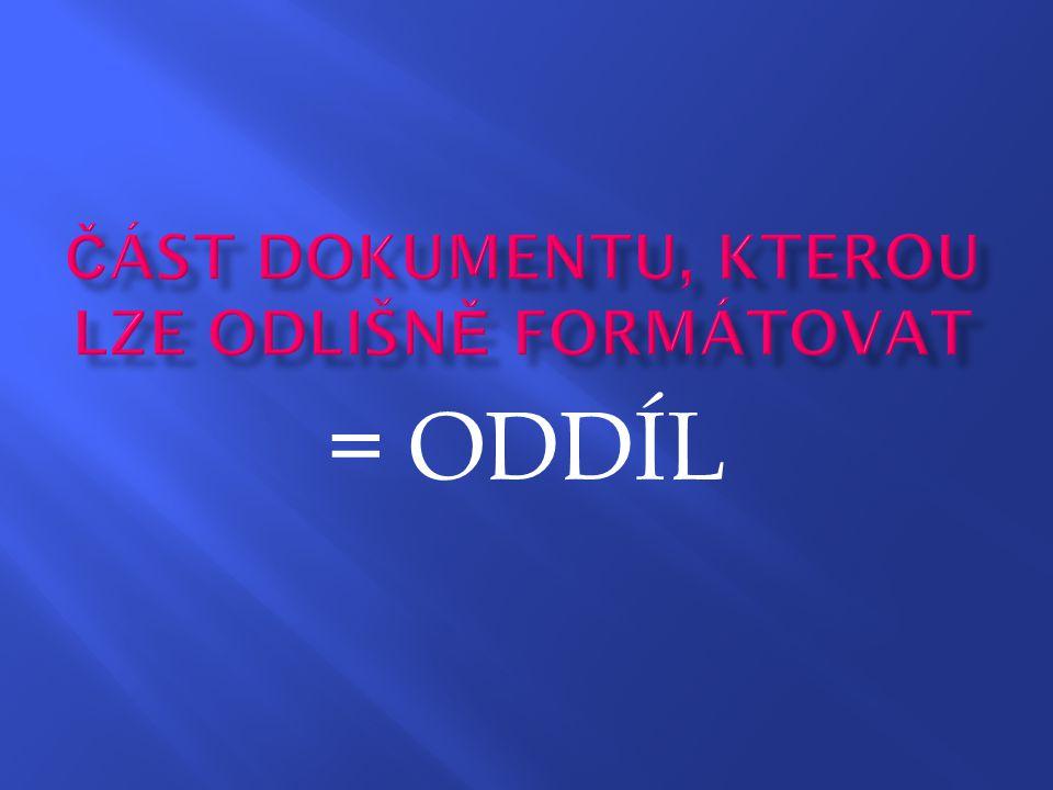 = ODDÍL