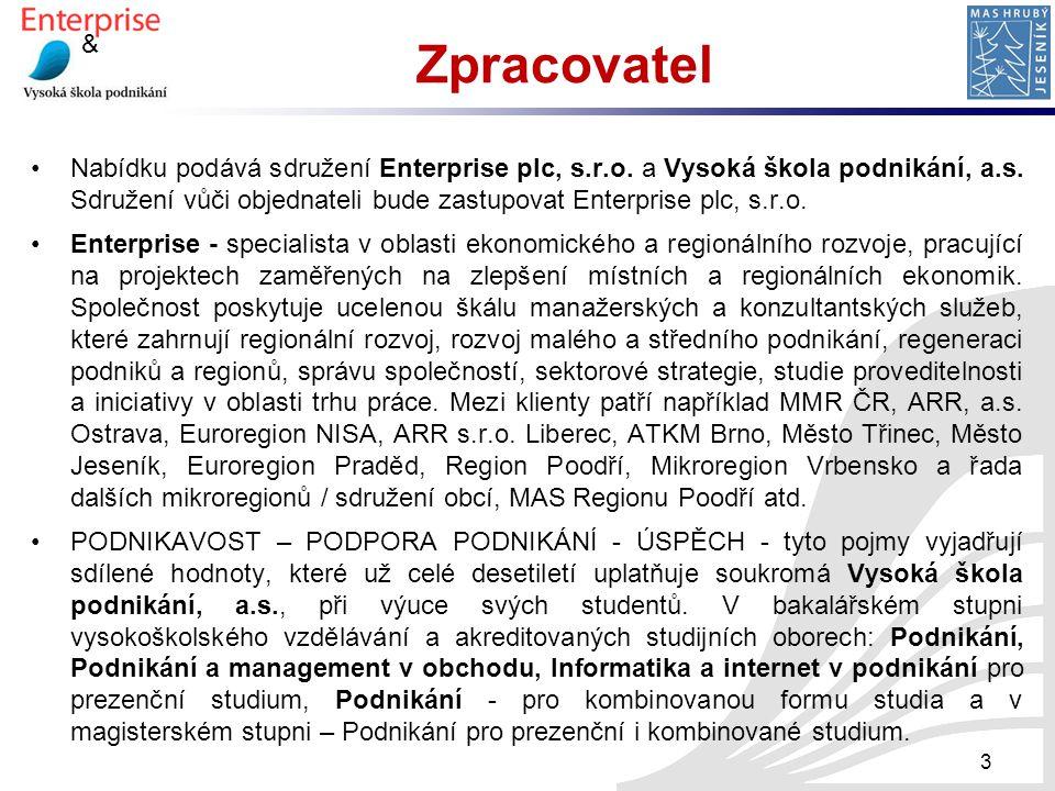 & Spolupráce Enterprise a VŠP, a.s.