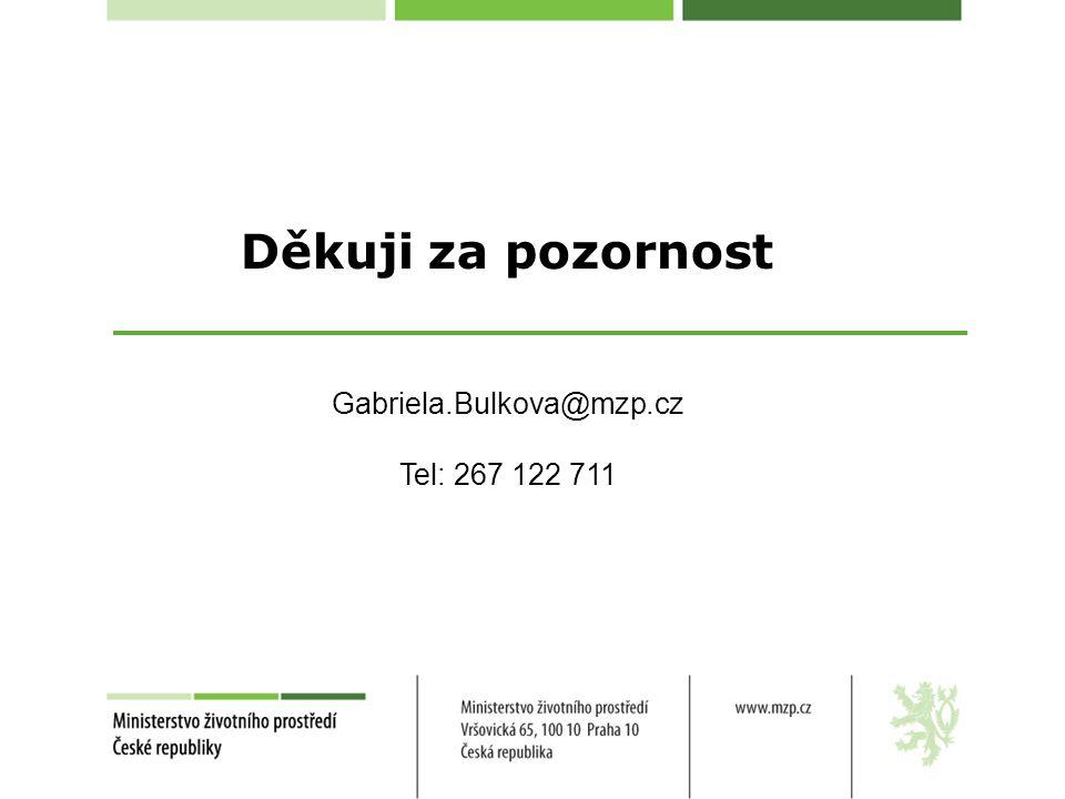 Děkuji za pozornost Gabriela.Bulkova@mzp.cz Tel: 267 122 711