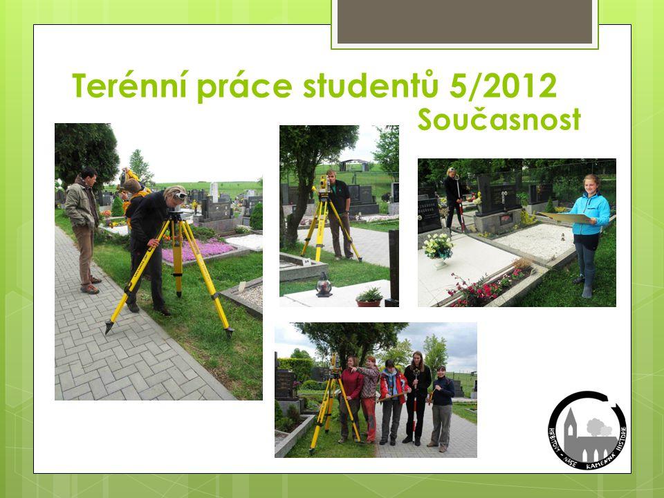 Terénní práce studentů 5/2012 Současnost