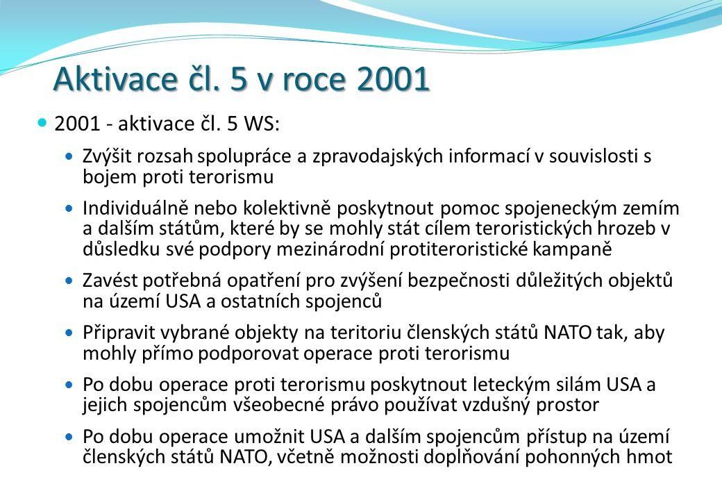 Aktivace čl.5 v roce 2001 2001 - aktivace čl.