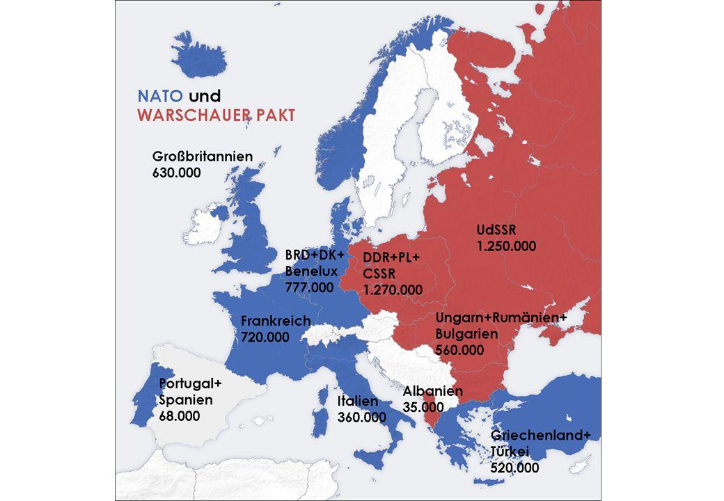Rozšiřování členské základny NATO 1952 – přistupují Řecko a Turecko 1955 – přistupuje NSR 1982 – Španělsko 1999 – Česká republika, Polsko, Maďarsko 2004 – Bulharsko, Rumunsko, Litva, Lotyšsko, Estonsko, Slovinsko, Slovensko 2009 – Chorvatsko, Albánie Interaktivní mapa rozšiřování NATO