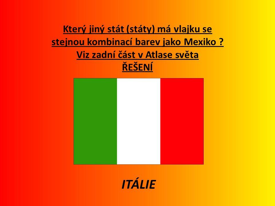 Doplň chybějící slova (využij Atlas světa) : Mexiko leží na západní polokouli, v jižní části Severní Ameriky.