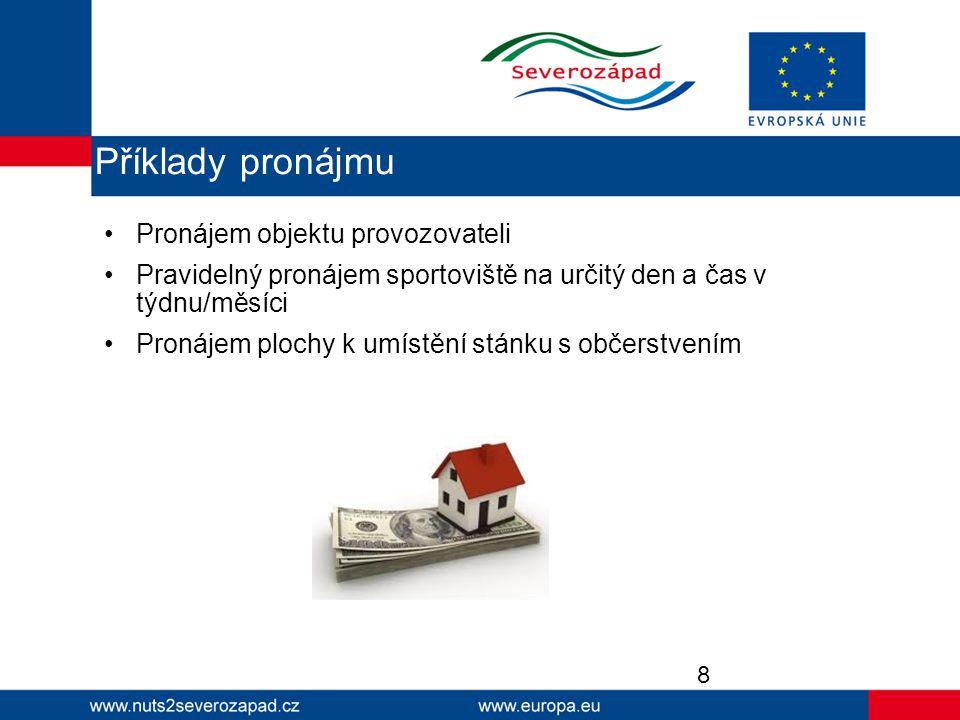 Majetek pořízený z dotace či jeho část může příjemce dotace po dobu realizace a udržitelnosti projektu vypůjčit třetí osobě, avšak je třeba dodržet následující podmínky: Bezplatnost Nepřenášení výhody na podnikatelské subjekty Nekomerční účel výpůjčky předmětem výpůjčky jsou pouze věci či prostory využívané ve veřejném nekomerčním zájmu 9 Výpůjčka