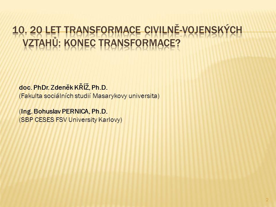 (Ing. Bohuslav PERNICA, Ph.D. (SBP CESES FSV University Karlovy) doc. PhDr. Zdeněk KŘÍŽ, Ph.D. (Fakulta sociálních studií Masarykovy universita) 2