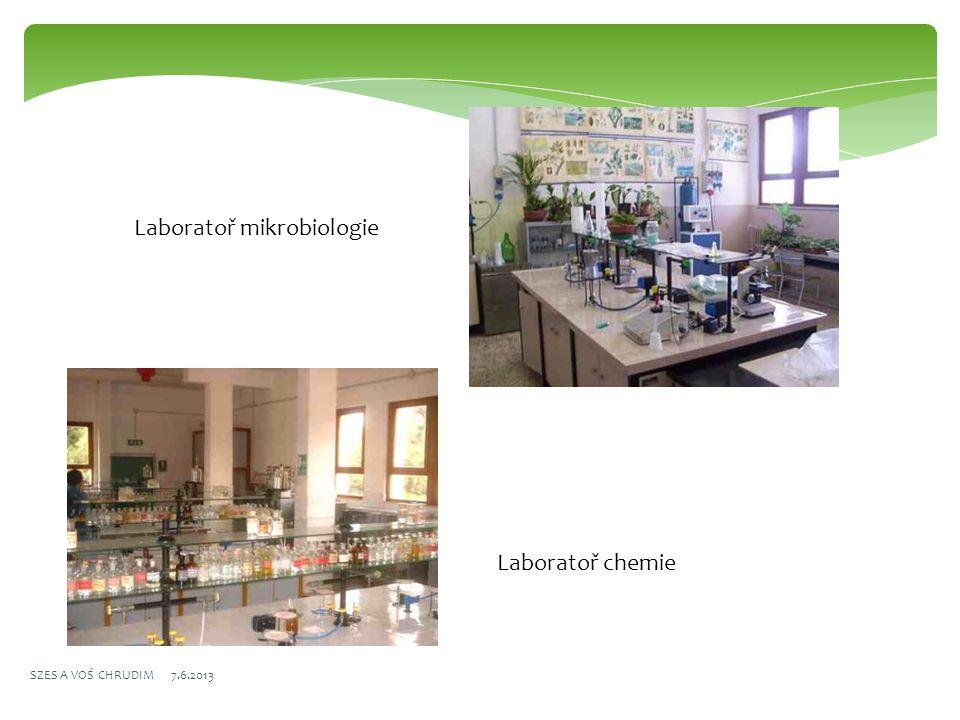 Laboratoř mikrobiologie Laboratoř chemie SZES A VOŚ CHRUDIM 7.6.2013