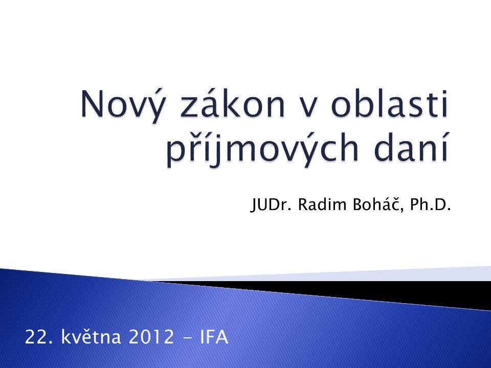 JUDr. Radim Boháč, Ph.D. 22. května 2012 - IFA