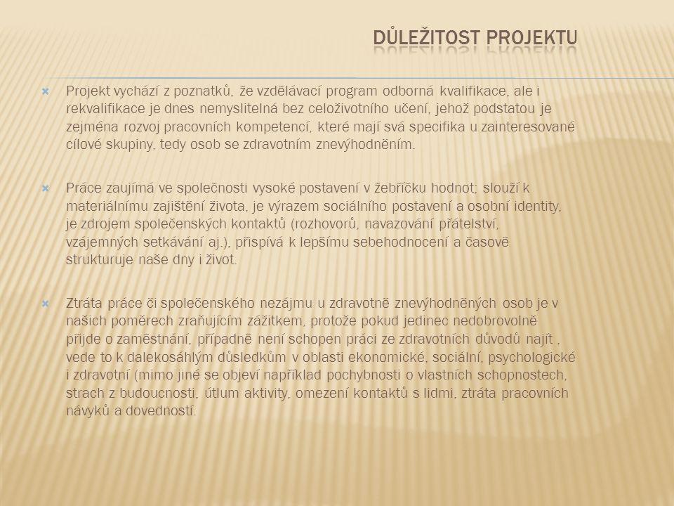  Organizace IMPULS TŘEBÍČ pořádala od 3.8.2010 do 15.4.2011 denní devítiměsíční rekvalifikační projekt v oboru administrativní pracovník a florista (dle vlastního výběru účastníka), který byl určen pro uchazeče o zaměstnání se zdravotním postižením a zdravotně znevýhodněné osoby registrované na ÚP.