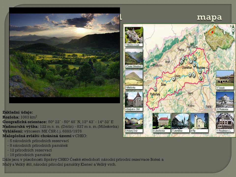 Základní údaje: Rozloha: 1063 km 2 Geografická orientace: 50° 22´ - 50° 48´ N, 13° 43´ - 14° 32´ E Nadmo ř ská výška: 122 m n.