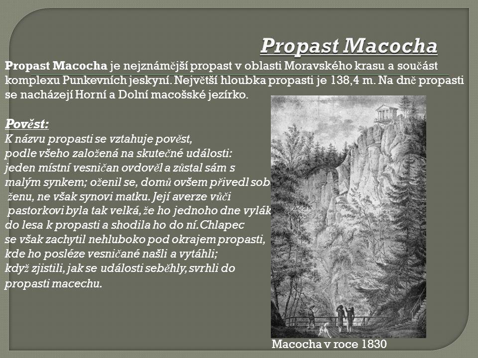 Propast Macocha je nejznám ě jší propast v oblasti Moravského krasu a sou č ást komplexu Punkevních jeskyní.
