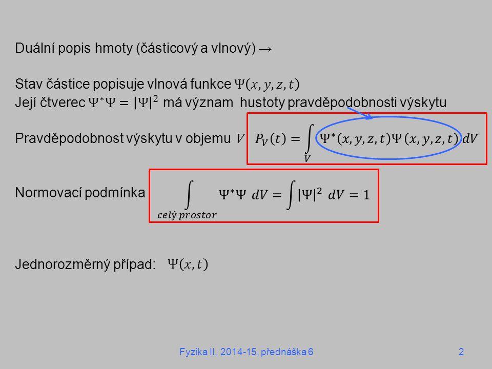 5.2 Operátory v kvantové mechanice umožňují určit hodnotu veličiny v určitém stanu ≡ předpis, který funkci z určitého oboru přiřadí funkci z téhož oboru ≡ funkce na množině funkcí Př.