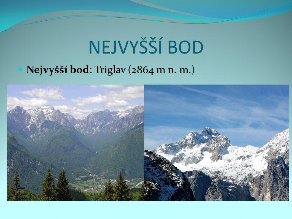 NEJVYŠŠÍ BOD Nejvyšší bod: Triglav (2864 m n. m.)