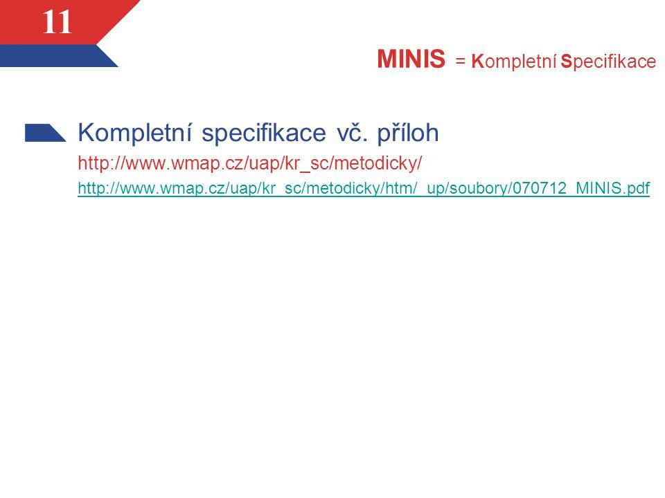 11 MINIS = Kompletní Specifikace Kompletní specifikace vč.