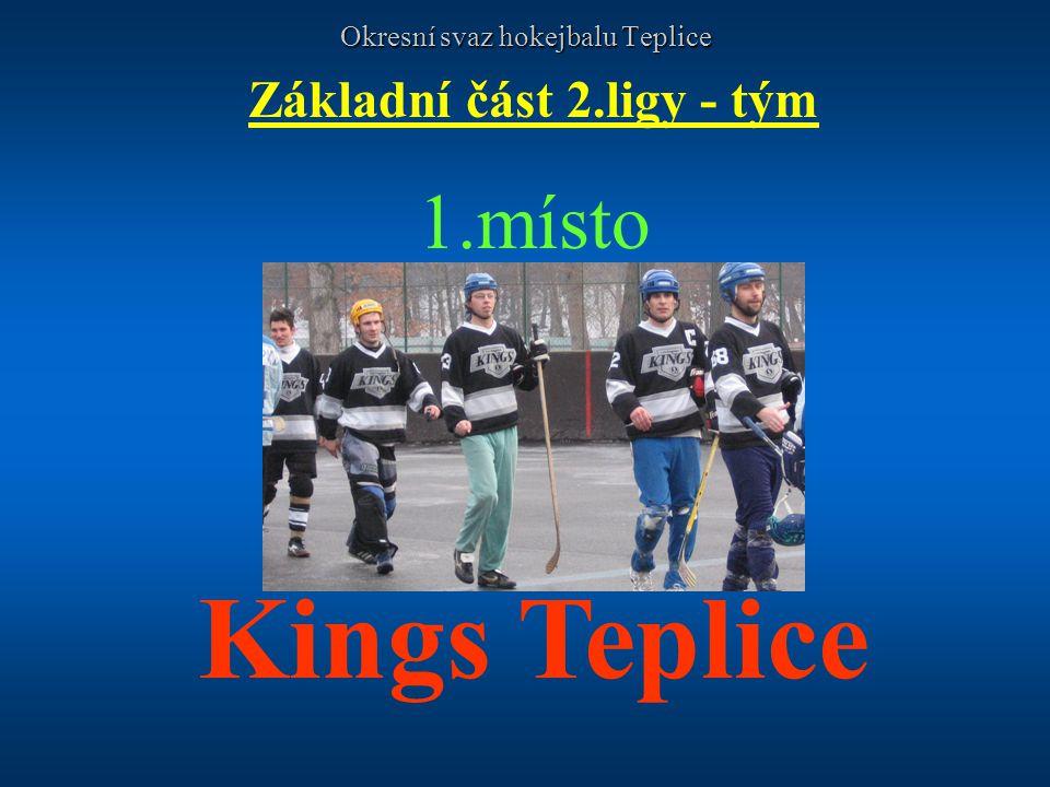 Okresní svaz hokejbalu Teplice Základní část 2.ligy - tým 1.místo