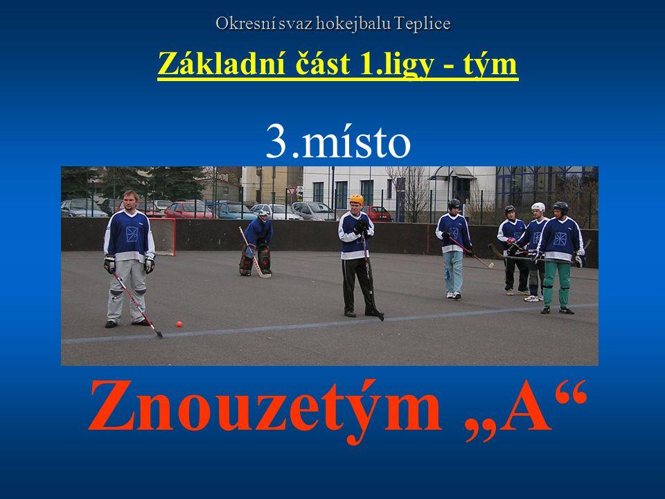 Okresní svaz hokejbalu Teplice Základní část 1.ligy - tým 3.místo
