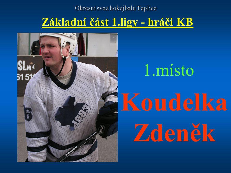 Okresní svaz hokejbalu Teplice Základní část 1.ligy - hráči KB 1.místo