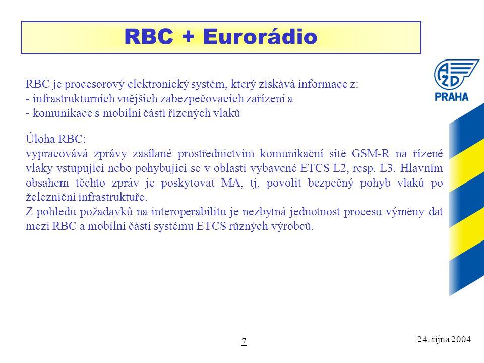 24. října 2004 8 Komponenty stacionární části Eurobalisa LEU Euroloop