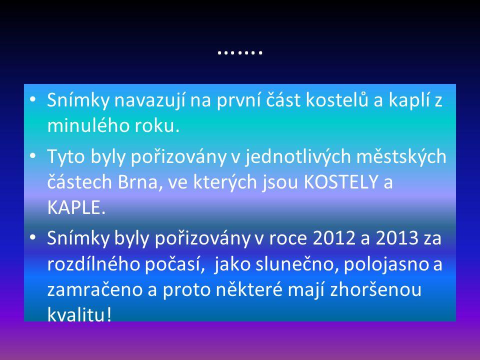 Druhá část Rok 2013