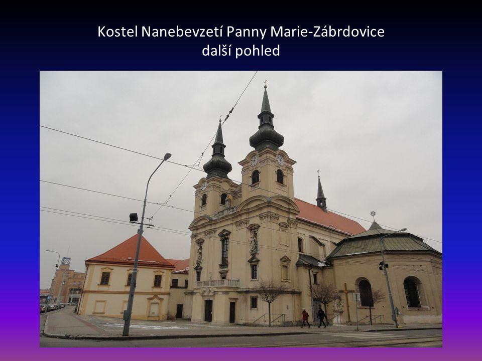 Kostel Nanebevzetí Panny Marie v Zábrdovicích městská část Židenice
