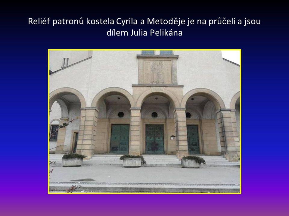 Kostel Cyrila a Metoděje – na Nopově ulici, městská část Židenice je to trojlodní Bazilika z let 1932-35