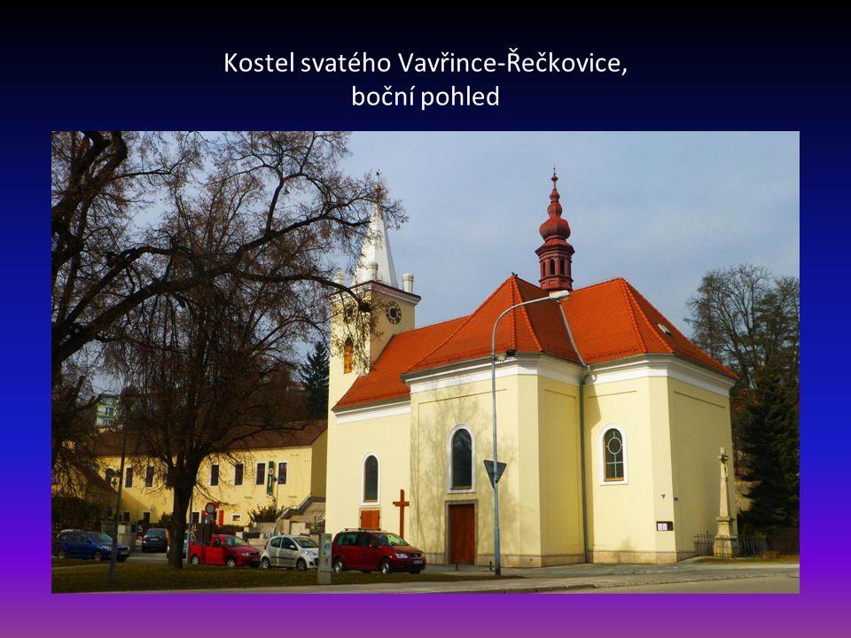 Kostel svatého Vavřince-Řečkovice, vstupní část