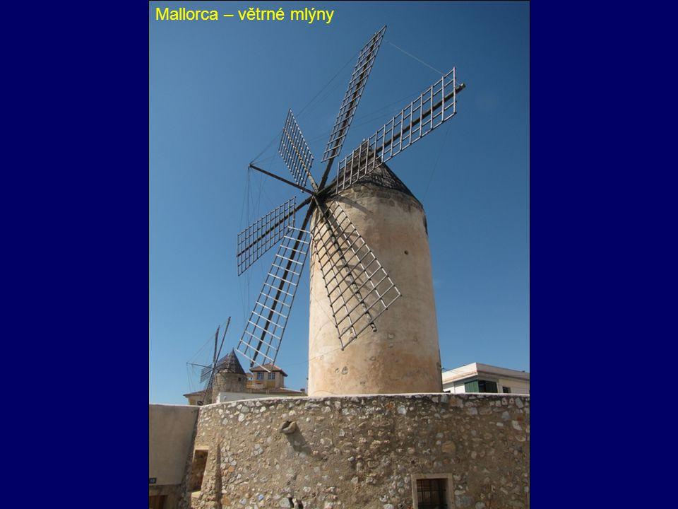 Mallorca – větrné mlýny