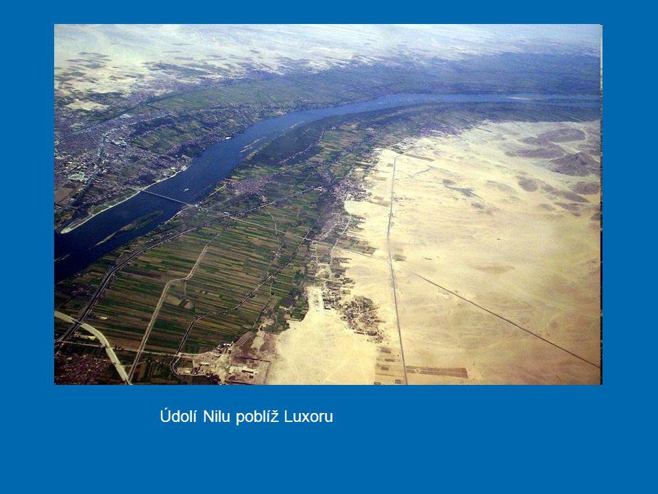 Údolí Nilu poblíž Luxoru