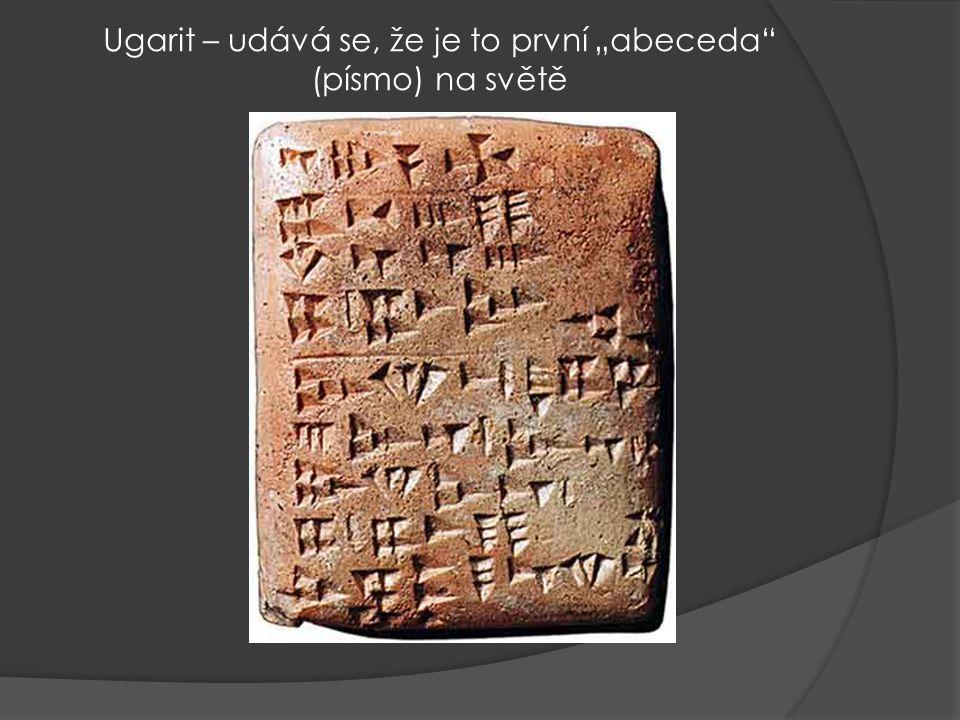 Ugarit ( skulptura pochází z doby cca r.1300 př. Kr..)