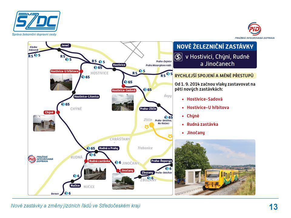 13 Nové zastávky a změny jízdních řádů ve Středočeském kraji