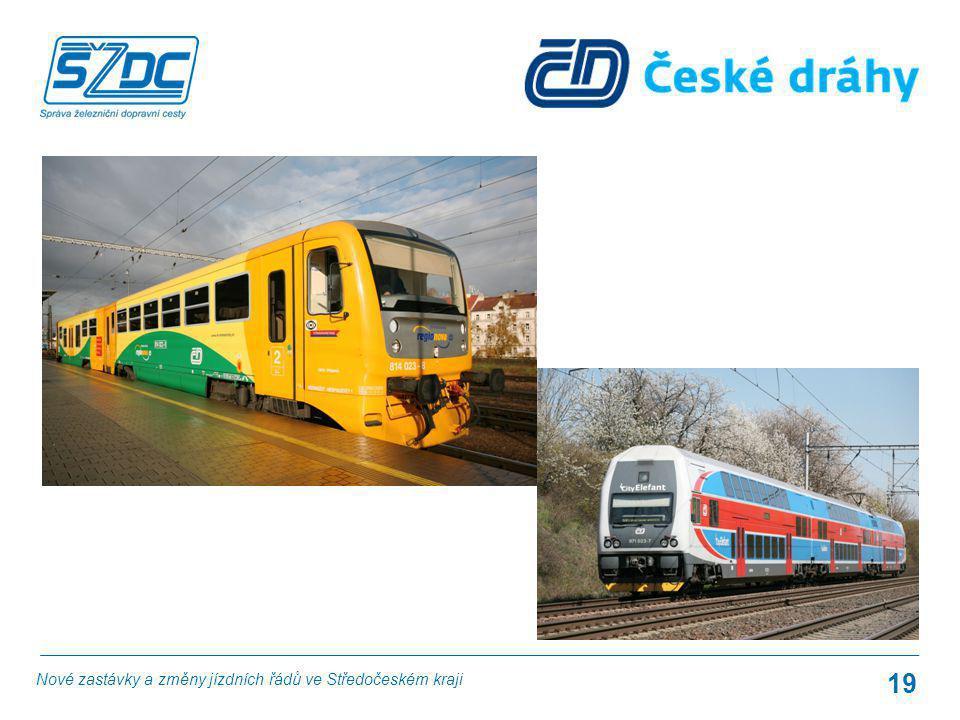 19 Nové zastávky a změny jízdních řádů ve Středočeském kraji