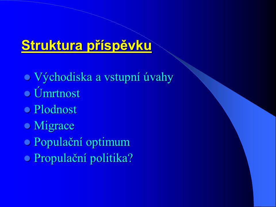 """Populační politika – 3: Tři vztažené oblasti, jejichž řešení může podpořit zvyšování plodnosti v ČR (Doc.RNDr.Rychtaříková, CSc.) 1/ skloubeni pracovní kariéry (ženy) a rodičovství /komentář – """"Teze žena sama rozhoduje o svém vlastním těhotenství konvenuje MODELU 1 DĚTNÉ RODINY /; 2/ skutečná genderová rovnost /komentář – zejména pokud jde o KOMUNIKACI mezi POHLAVÍMI, formální ROVNOST PRACOVNÍCH PŘÍLEŽITOSTÍ již máme – z dlouhodobějšího hlediska pokračují """"konvergenční procesy – ženy by ovšem chtěly mít stejně vysoké platy jako muži, přestože jim více vyhovují kratší pracovní úvazky, což ovšem z důvodů péče o děti může být objektivní požadavek/; 3/ racionální a dlouhodobá (i)migrační politika => přehodnocení stávající populační politiky /komentář – možná spíše """"střednědobá a také """"výběrová podpora/ - optimalizace modelu """"1.9+0.2 = 2.1 , když """"0.2 symbolizuje příspěvek stávajícího trendu příspěvku imigrace do ČR /vyjádřeného v %/."""