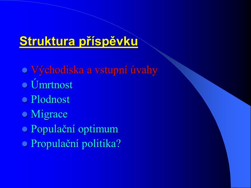 Populační politika – 4: Existuje univerzální strategie /posloupnost řídících resp.